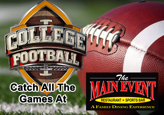College Football at Main Event Farmingdale NY