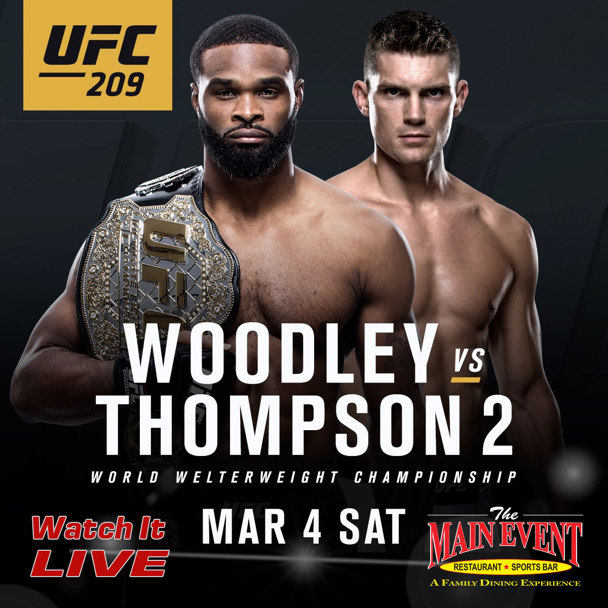 UFC 209 Main Event Farmingdale NY