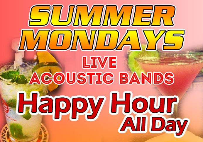 Summer Drinks advertising Summer Mondays at Main Event