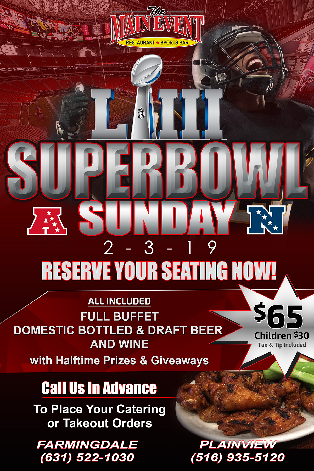 Superbowl party Feb. 3rd