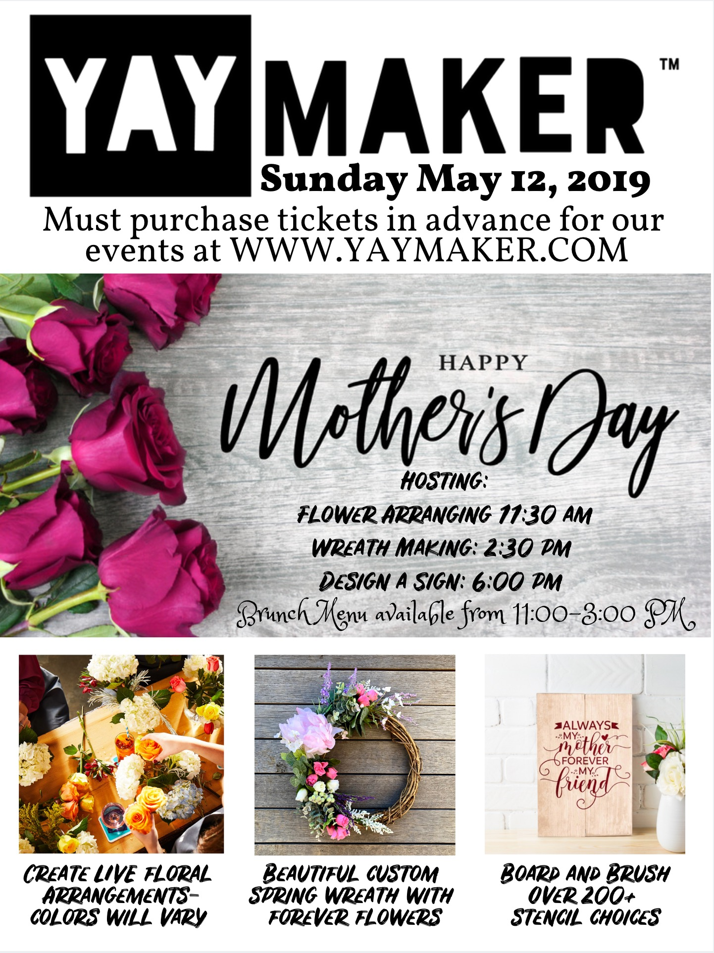 Mothers Day May 12h YAY Maker