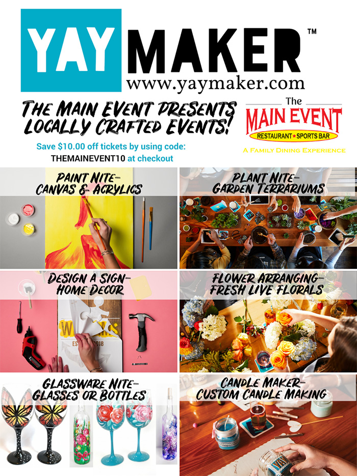 YAY Maker Events Flyer
